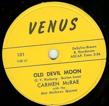Carmen mcrae discography old devil moon stopboris Images